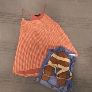 Polka Dot Orange Tank